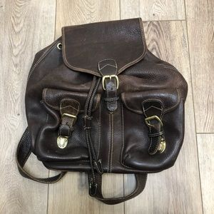 Brown Backpack Believe to Be Leather